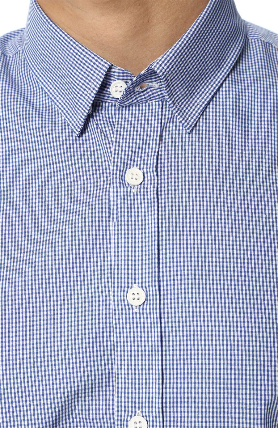 Kareli Lacivert-Beyaz Gömlek