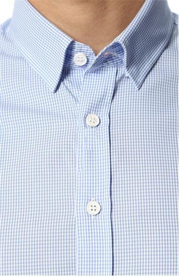 Kareli Mavi Beyaz Gömlek