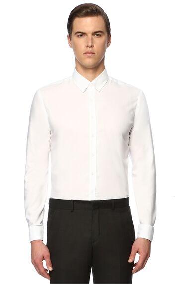 İtalyan Yaka Beyaz Gömlek