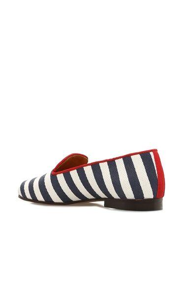 Çizgili Bej Ayakkabı