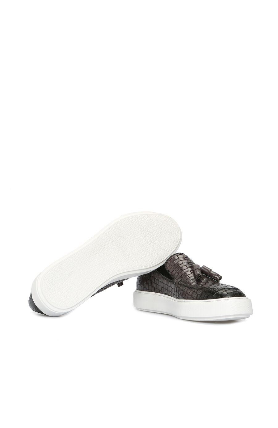 Örgü Antrasit Loafer