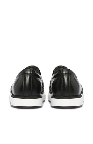 Örgü Siyah Erkek Ayakkabı