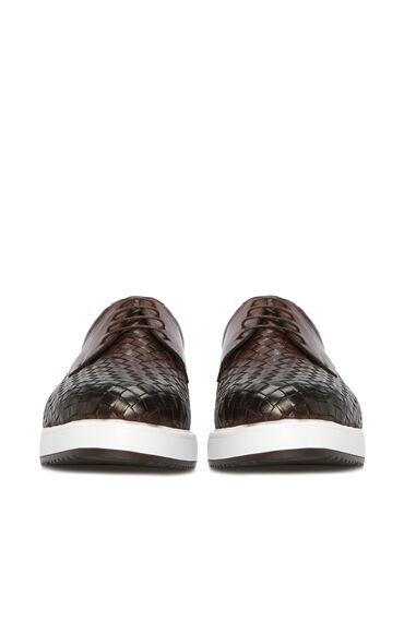 Örgü Kahverengi Ayakkabı