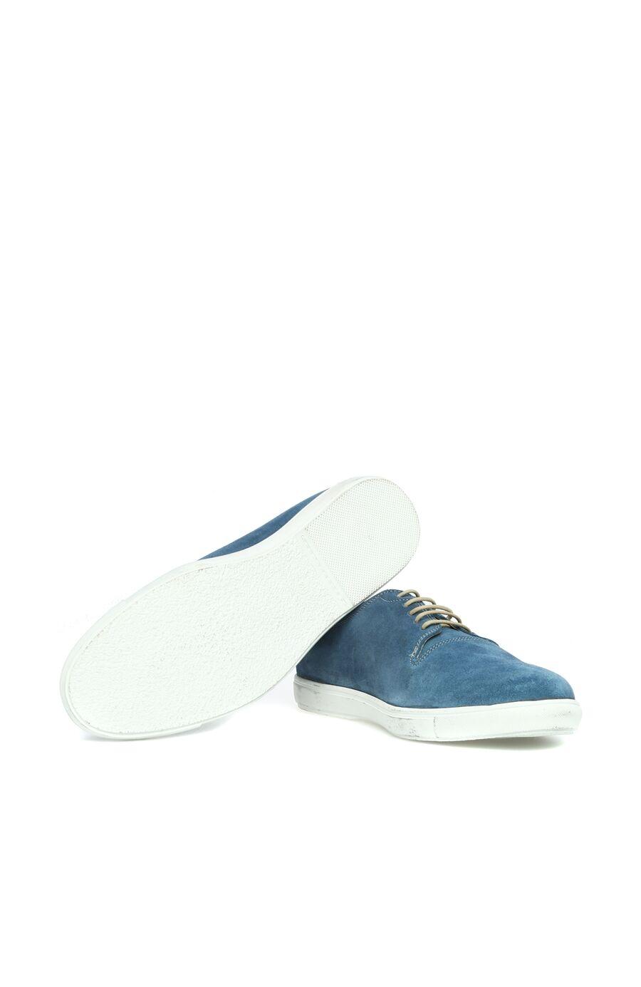 Süet Mavi Ayakkabı