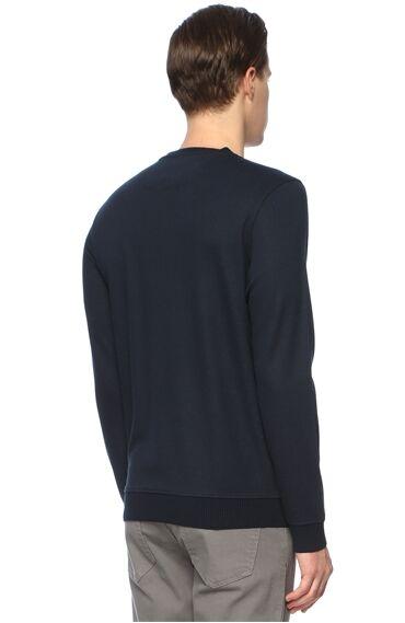 Slim Fit Lacivert Sweatshirt