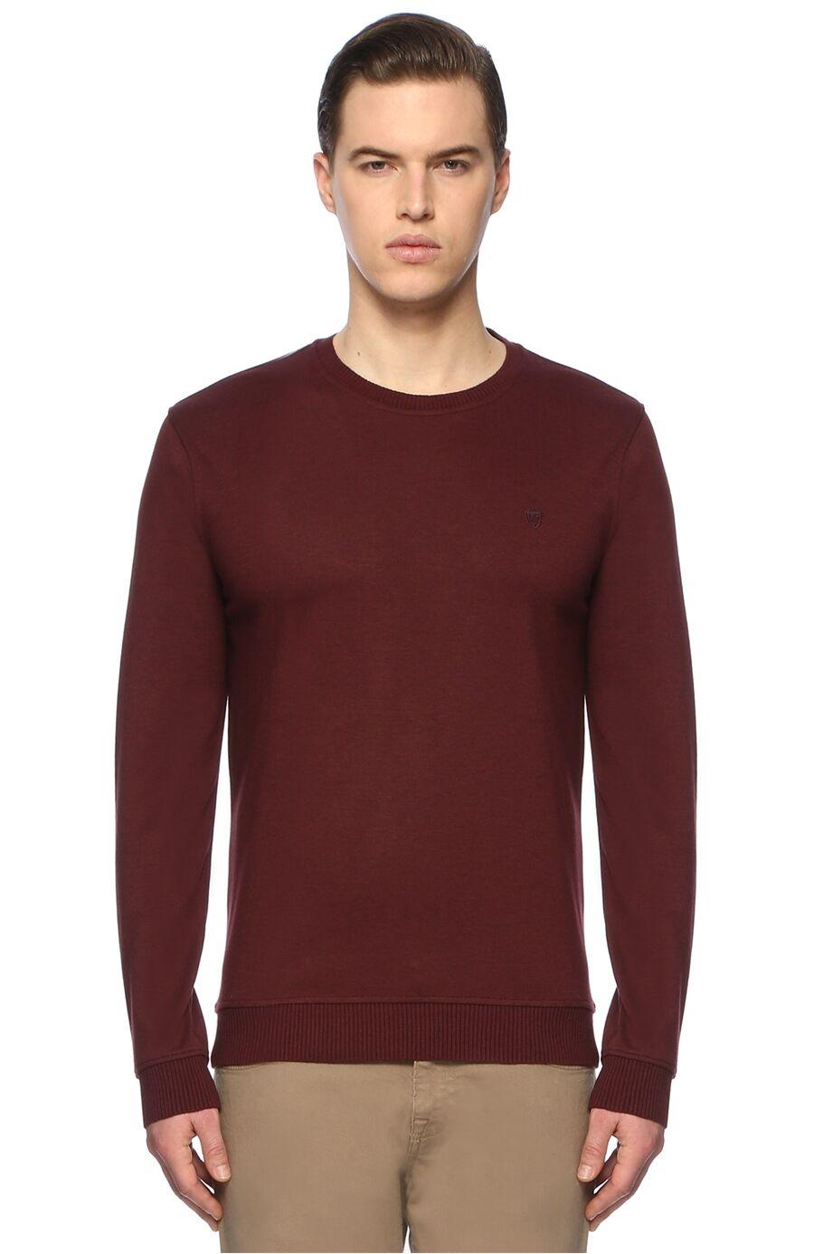 Slim Fit Bordo Sweatshirt