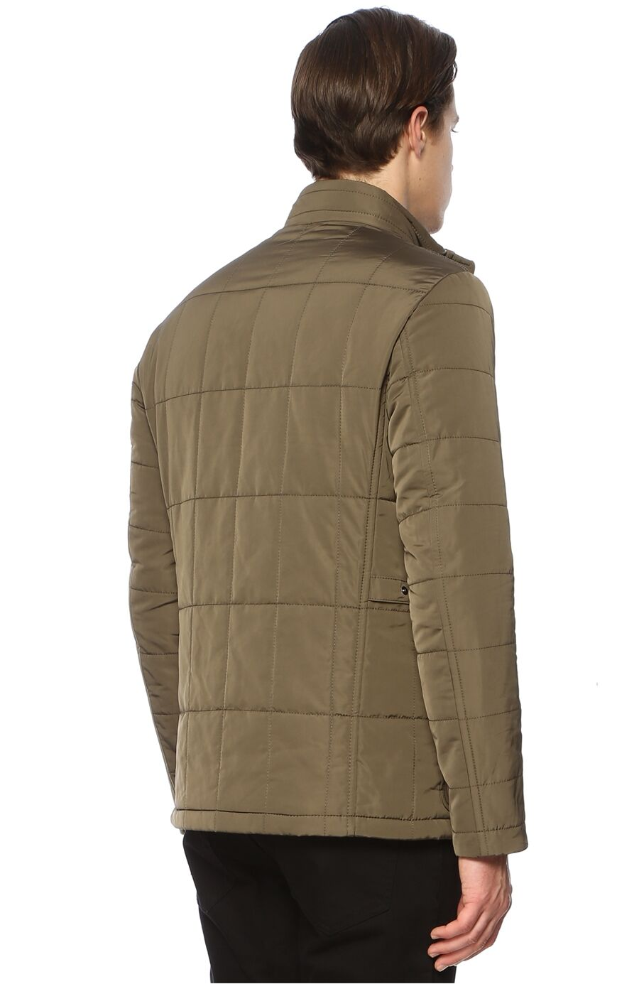 Kapitoneli Slim Fit Haki Coat Ceket