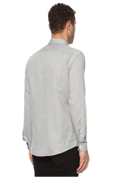 Slim Fit Gri Gömlek