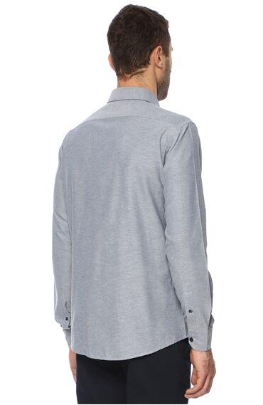 Baklavalı Lacivert Gömlek