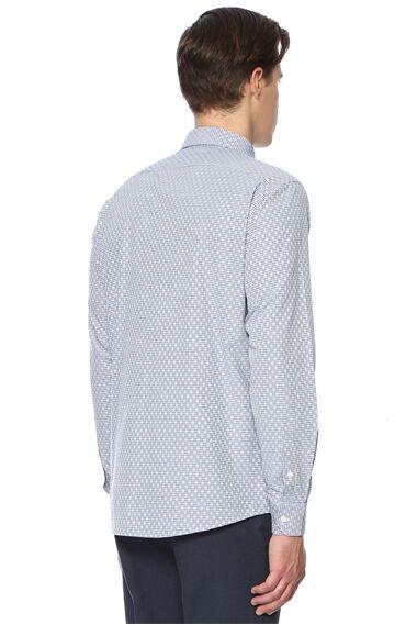 Kareli Lacivert Gömlek
