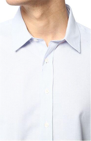 Jakarlı Regular Fit Açık Lacivert Gömlek