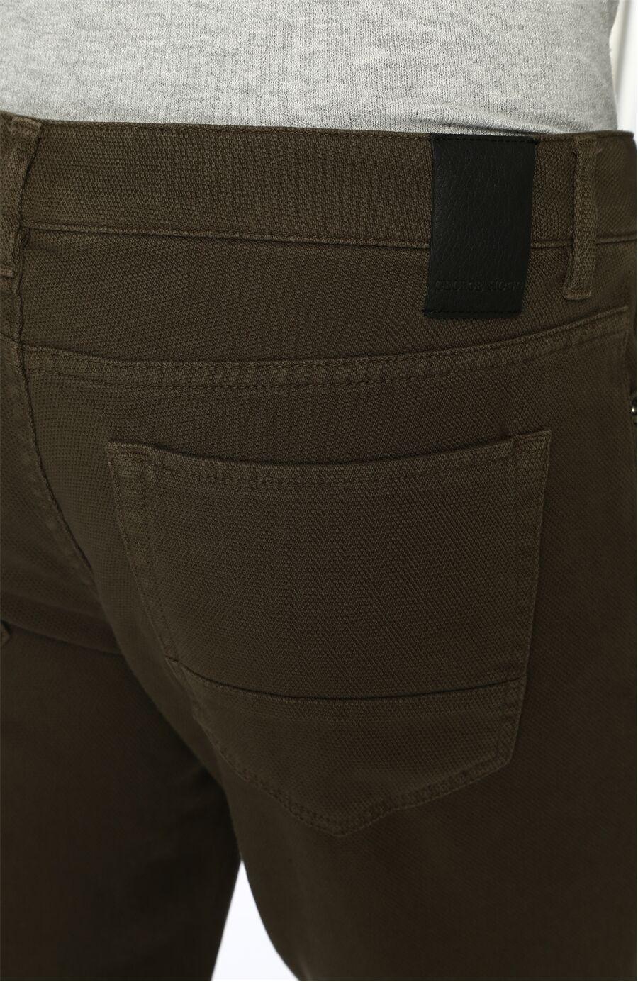 Slim Fit Haki Casual Pantolon