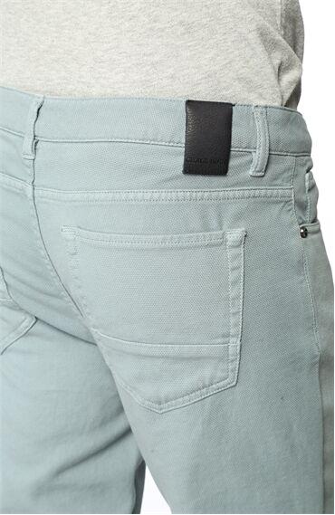 Slim Fit Koyu Mint Casual Pantolon