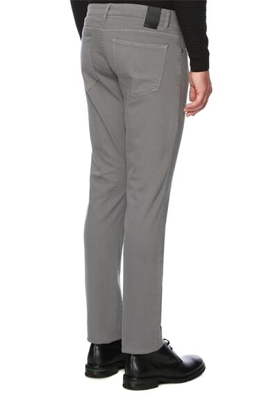 Slim Fit Gri Casual Pantolon