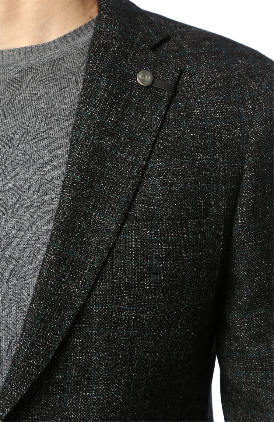 Ekose Siyah Ceket