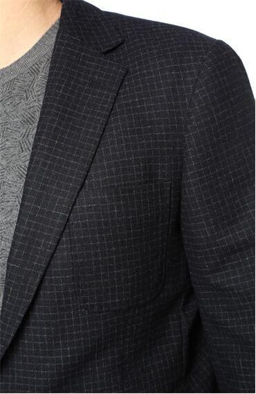Kareli Koyu Lacivert Ceket