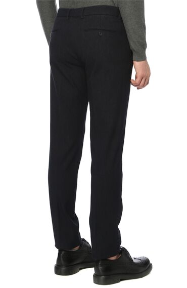 Slim Fit Lacivert Pantolon