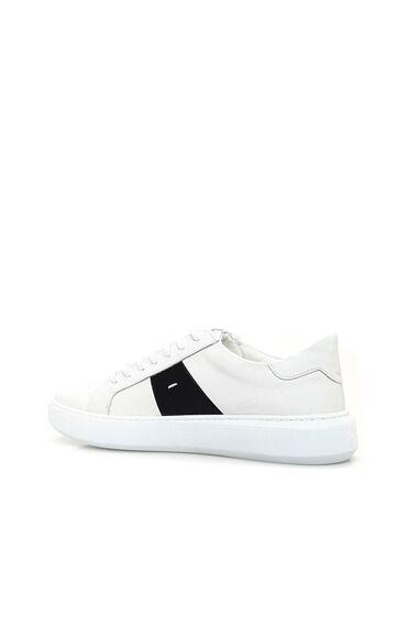 Beyaz Lacivert Sneaker