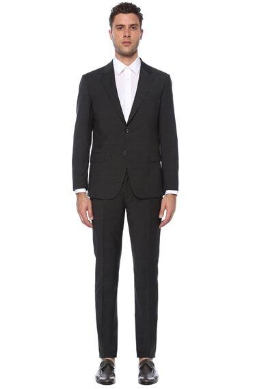 Slim Fit Antrasit Takım Elbise
