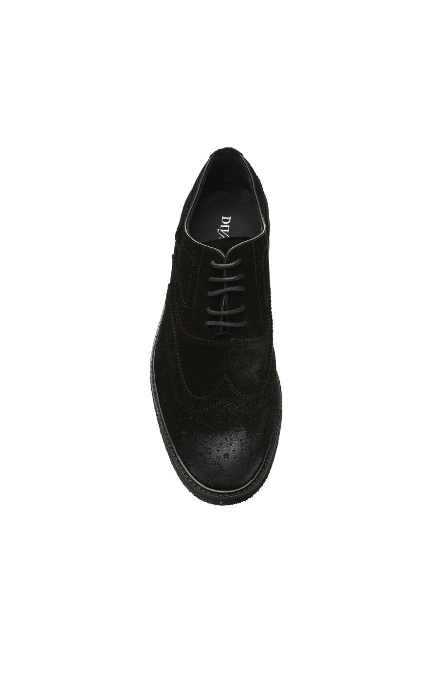 Zımbalı Siyah Süet Erkek Ayakkabı