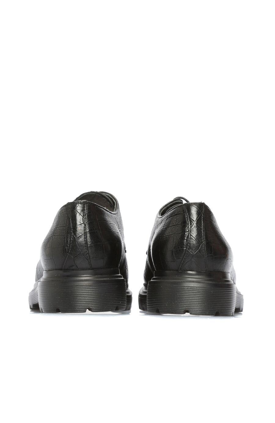 Kroko Siyah Erkek Ayakkabı