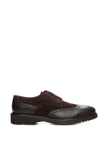 Zımbalı Kahverengi Süet Erkek Ayakkabı