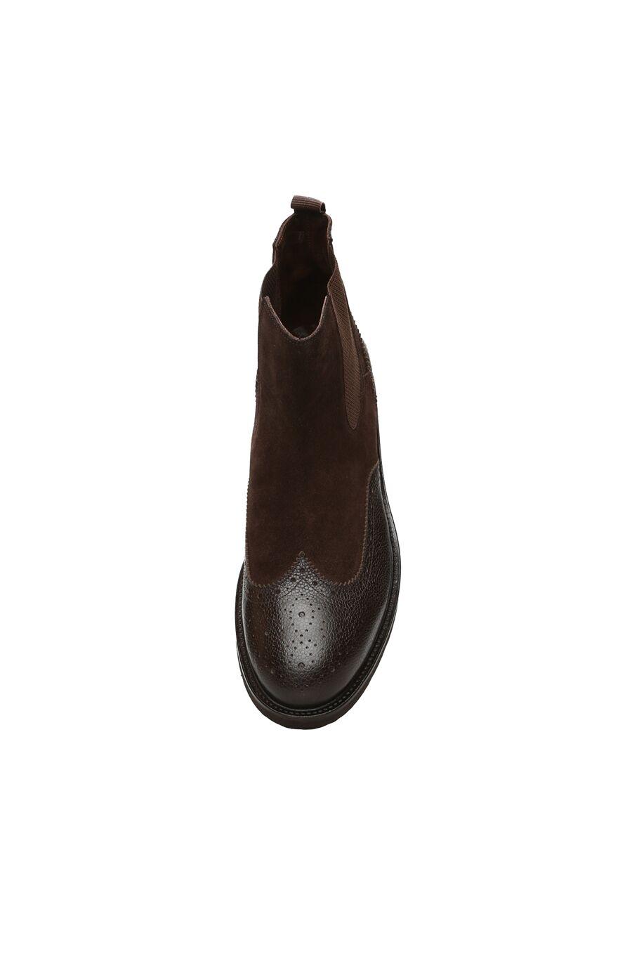 Zımbalı Kahverengi Süet Erkek Bot