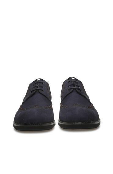 Zımbalı Lacivert Nubuk Erkek Ayakkabı