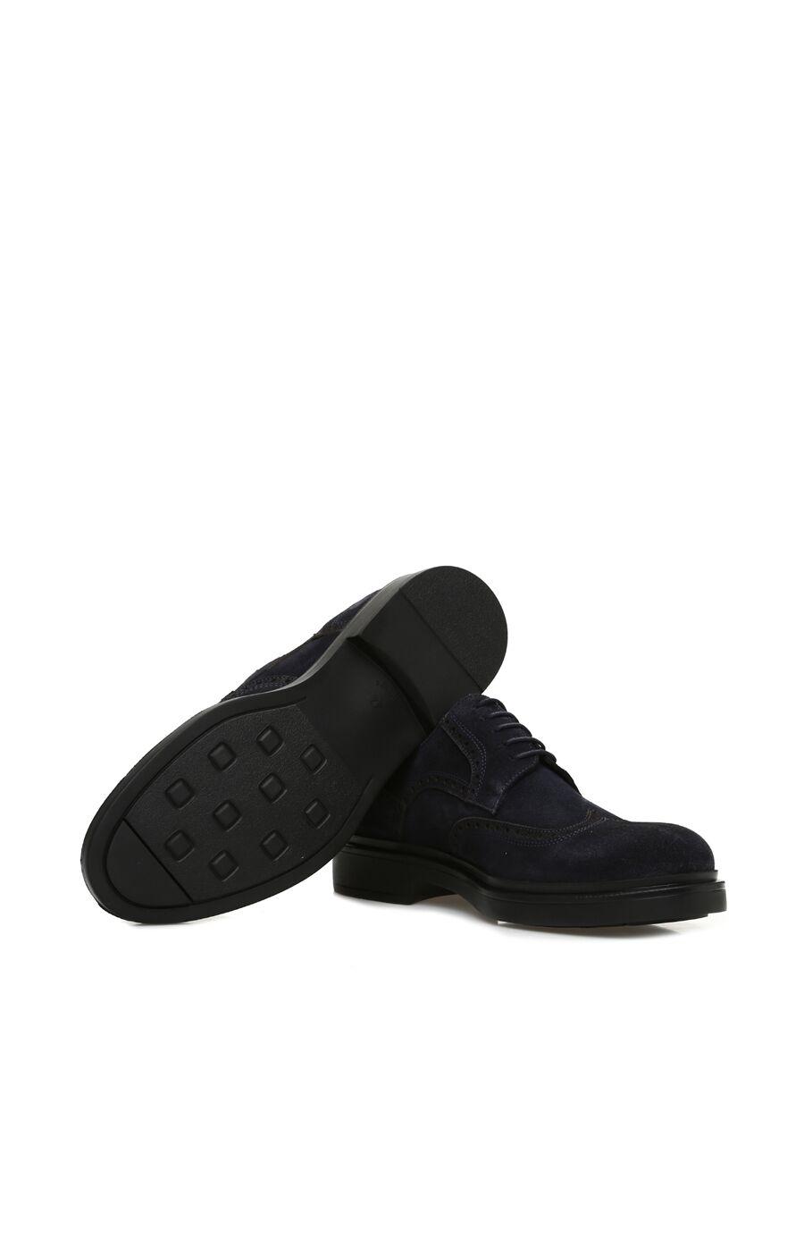 Zımbalı Lacivert Süet Erkek Ayakkabı
