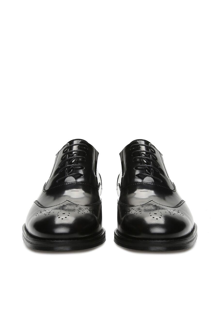 Siyah Erkek Deri Zımbalı Ayakkabı