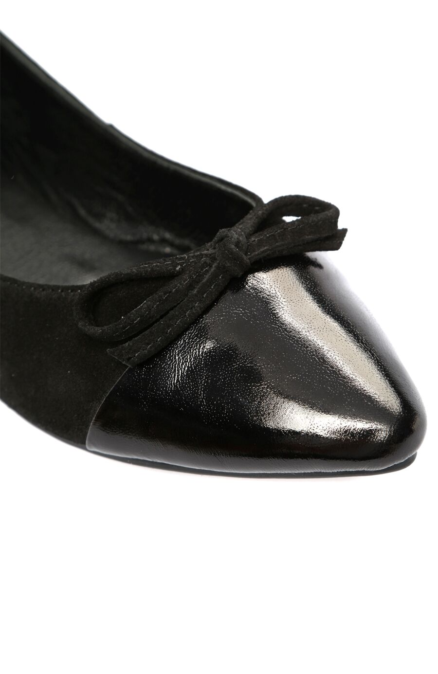 Siyah Süet Kadın Babet