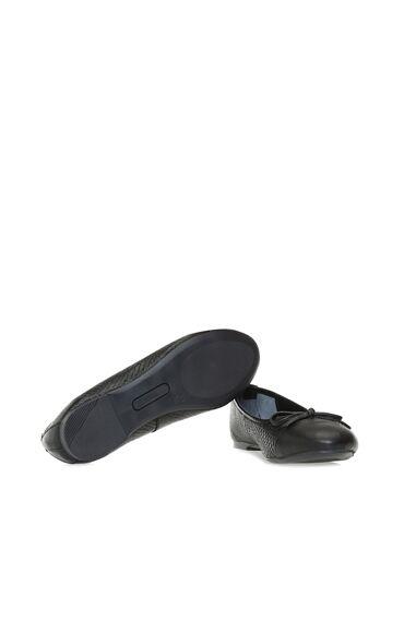 Yılan Baskı Siyah Babet