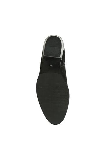Troklu Siyah Süet Kadın Çizme