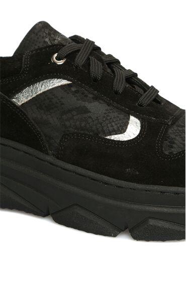 Siyah Süet Kadın Sneaker