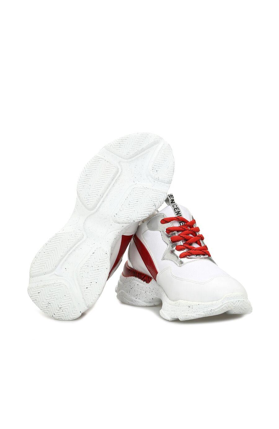 Beyaz Kırmızı Kadın Sneaker