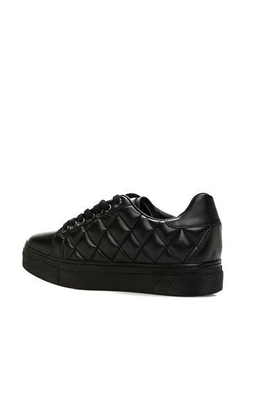 Kapitoneli Siyah Kadın Sneaker