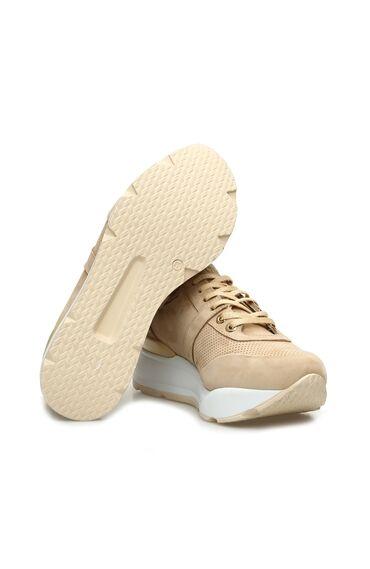 Bej Nubuk Kadın Sneaker