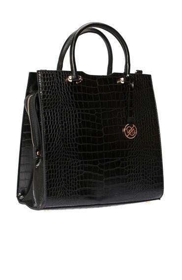 Kroko Siyah Kadın Çanta