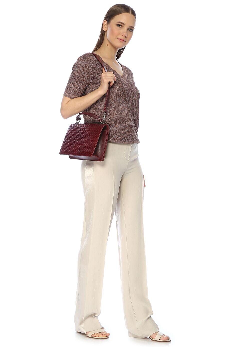 Örgü Bordo Kadın Çanta
