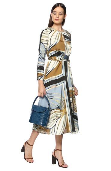 Kroko Petrol Kadın Çanta