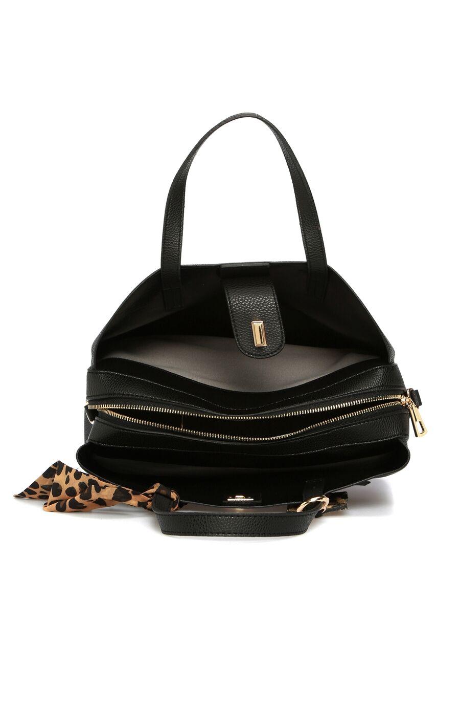 Leopar Siyah Kadın Çanta