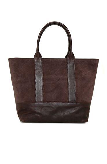 Kahverengi Logolu Kadın Deri Çanta