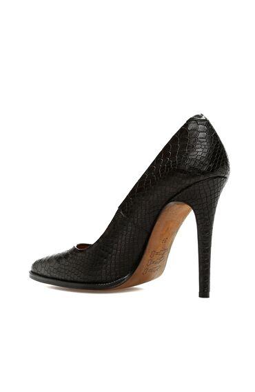 Kroko Siyah Kadın Stiletto