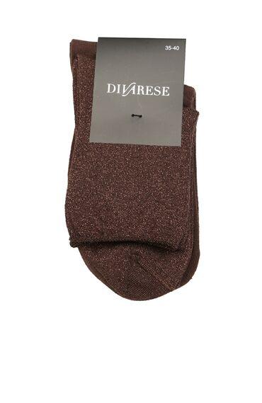 Kadın Kahverengi 2'li Çorap Set