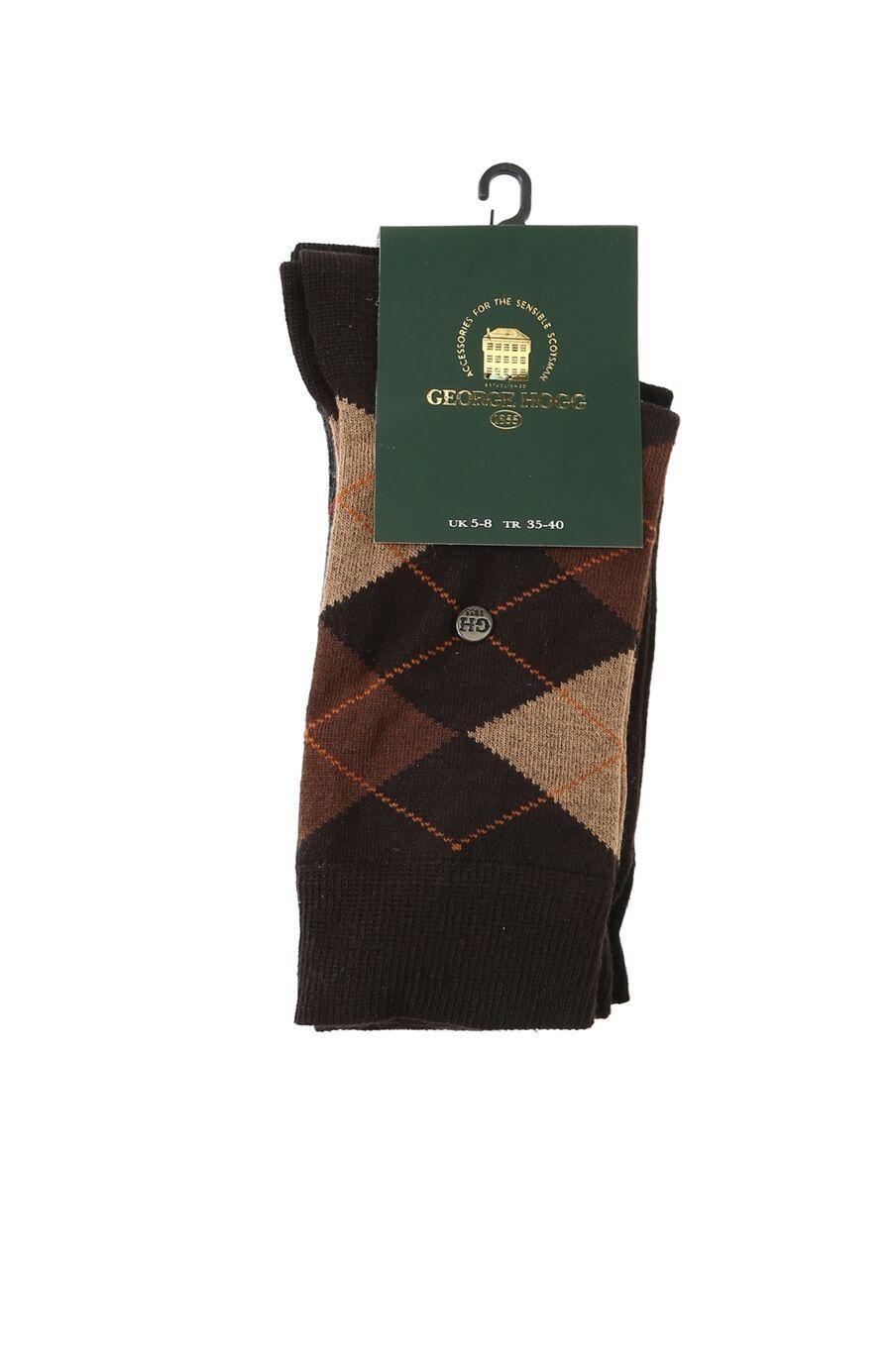 Kadın Siyah Kahverengi 2'li Çorap Set
