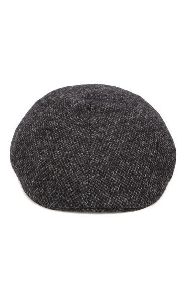 Siyah Erkek Yün Kasket Şapka