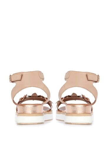 Taşlı Vizon Kadın Sandalet