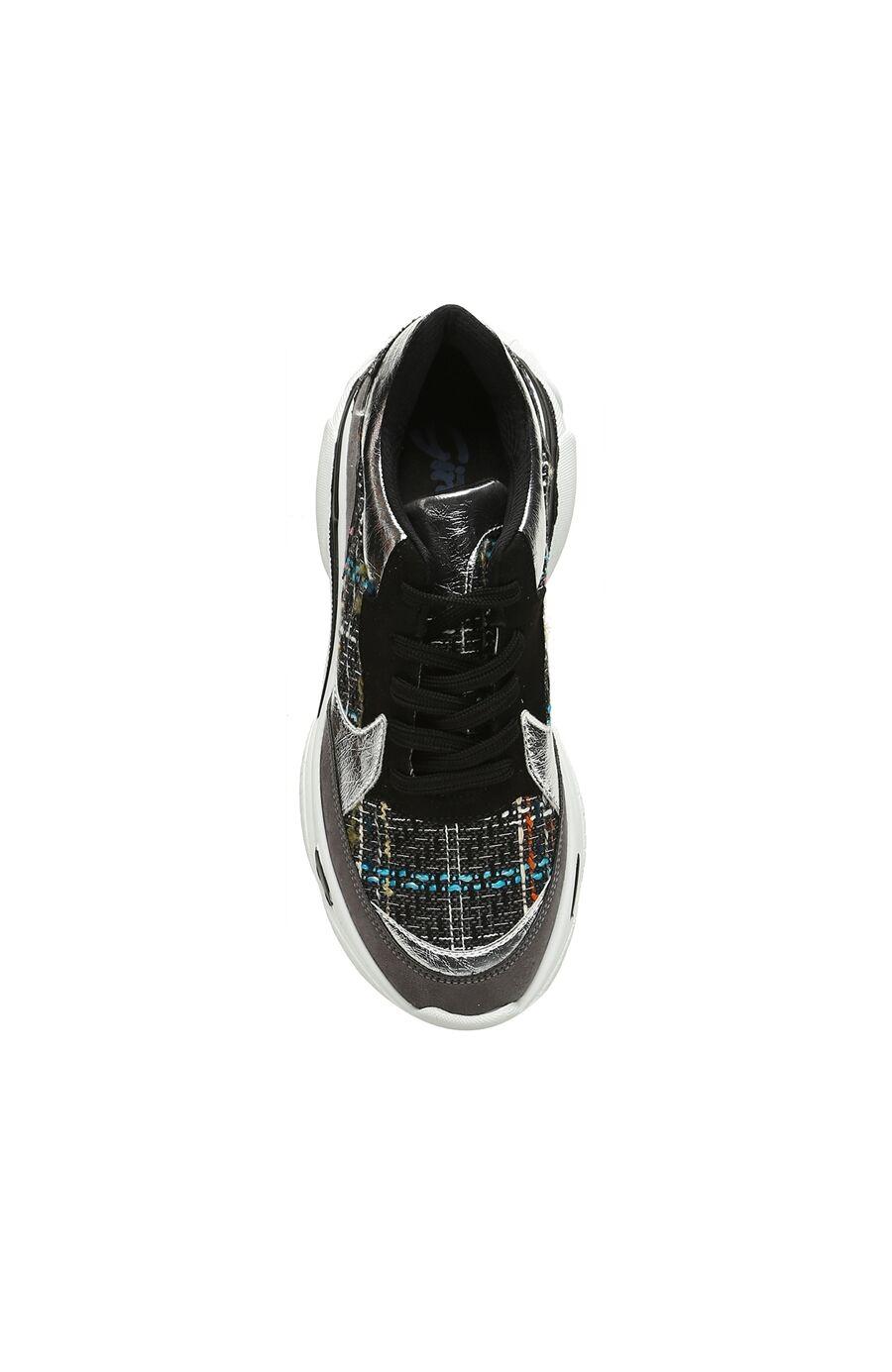 Gri Siyah Kadın Sneaker