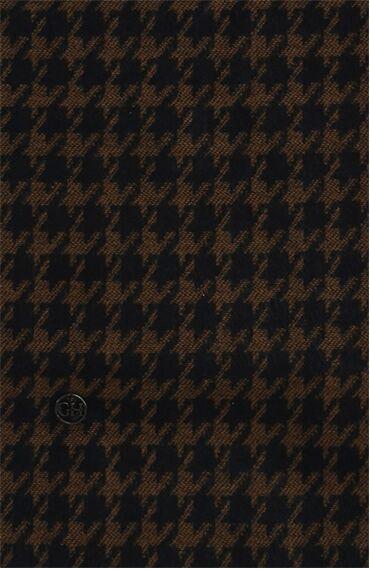 Desenli Lacivert-Kahverengi Erkek Atkı