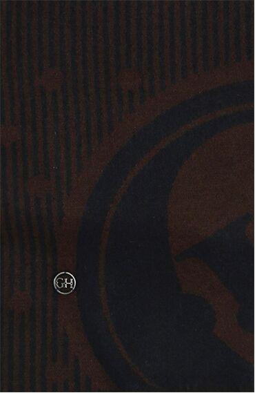 Erkek Lacivert-Kahverengi Atkı